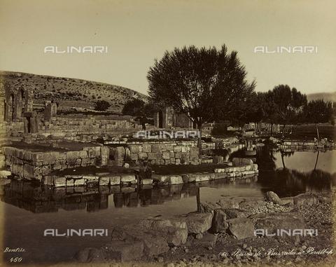 """AVQ-A-001581-0032 - Album """"Damas et Baalbek"""": Sorgente del fiume Barada a Baalbek (Eliopolis) - Data dello scatto: 1880 ca. - Archivi Alinari, Firenze"""