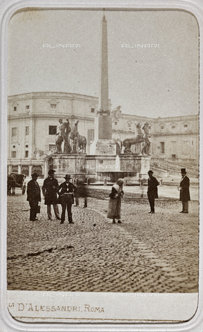 AVQ-A-001589-0036 - La fontana dei Dioscuri (Fontana di Monte Cavallo) in piazza del Quirinale a Roma - Data dello scatto: 1860 ca. - Raccolte Museali Fratelli Alinari (RMFA), Firenze