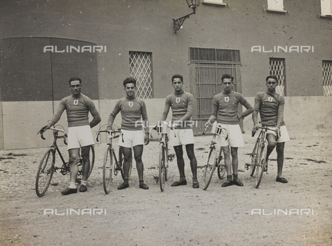 AVQ-A-001665-0011 - The After-work Activities Centre of the War Ministry of Bologna, the second cycling team during the relay race Bologna-Rome, September 20, 1931