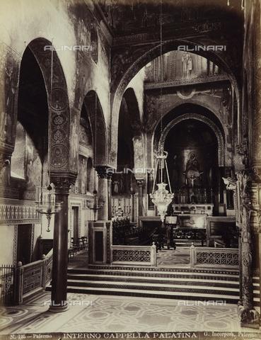 AVQ-A-001860-0004 - Interno della Cappella Palatina in Palazzo dei Normanni a Palermo - Data dello scatto: 1900 ca. - Raccolte Museali Fratelli Alinari (RMFA), Firenze