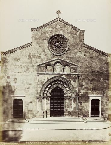 AVQ-A-001860-0025 - Facciata della Chiesa di San Francesco d'Assisi a Palermo - Data dello scatto: 1860-1870 - Raccolte Museali Fratelli Alinari (RMFA), Firenze