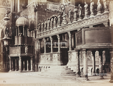 AVQ-A-002026-0003 - Inner view of the Basilica of San Marco, Venice - Data dello scatto: 1870-1880 - Archivi Alinari, Firenze