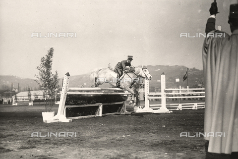 "AVQ-A-002181-0001 - Lieutenant Gutierrez riding ""Gallura"" during a competition of the National Horse Show of La Spezia."