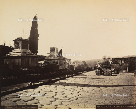 AVQ-A-002550-0039 - Street of Tombs, Pompeii - Date of photography: 1875-1888 - Fratelli Alinari Museum Collections, Florence