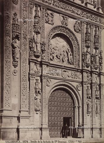 AVQ-A-002692-0075 - Facciata della chiesa di San Domenico a Salamanca - Data dello scatto: 1875 ca. - Raccolte Museali Fratelli Alinari (RMFA), Firenze