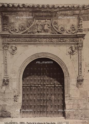 AVQ-A-002692-0082 - Portale della chiesa di San Giusto a Salamanca - Data dello scatto: 1875 ca. - Raccolte Museali Fratelli Alinari (RMFA), Firenze