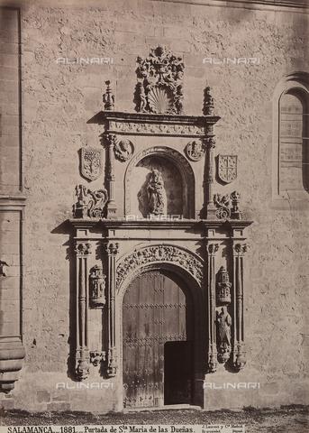 AVQ-A-002692-0085 - Portale della chiesa di Santa Maria de las Duenas a Salamanca - Data dello scatto: 1875 ca. - Raccolte Museali Fratelli Alinari (RMFA), Firenze