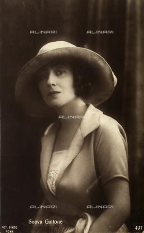 AVQ-A-002720-0059 - Ritratto dell'attrice Soava Gallone - Data dello scatto: 1920-1930 ca. - Archivi Alinari, Firenze