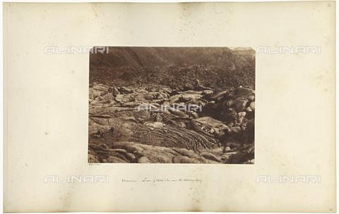 AVQ-A-002966-0040 - A sea of lava thrown up by Mount Vesuvius beatween 1858 and 1860 - Data dello scatto: 1859 ca. - Archivi Alinari, Firenze