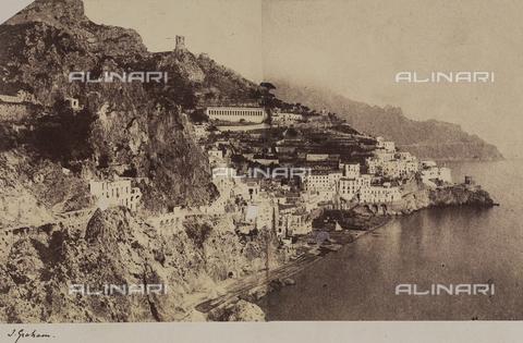 AVQ-A-002966-0099 - Amalfi photographed from the Grotta dei Cappuccini. - Data dello scatto: 1854-1863 ca. - Archivi Alinari, Firenze