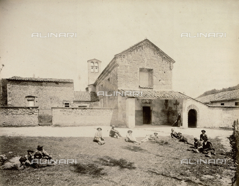 "AVQ-A-003554-0064 - ""Rocche e roccie"" (Rocks and Fortresses): the Badia or Abbey of Santa Maria, near Montepiano, Vernio - Date of photography: 1892-1899 - Fratelli Alinari Museum Collections, Florence"