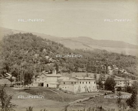 "AVQ-A-003554-0065 - ""Rocche e roccie"" (Rocks and Fortresses): the Badia or Abbey of Santa Maria, near Montepiano, Vernio - Date of photography: 1892-1899 - Fratelli Alinari Museum Collections, Florence"