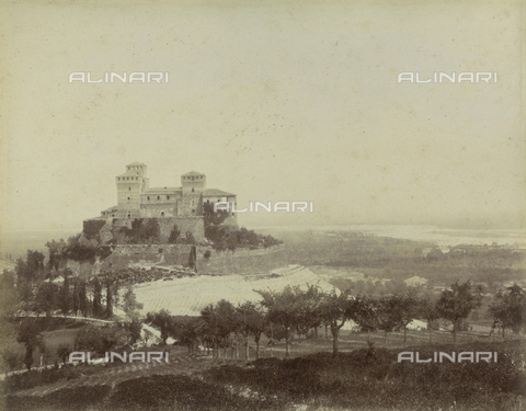 "AVQ-A-003554-0097 - ""Rocche e roccie"" (Rocks and Fortresses): the Castello di Torrechiara, near Langhirano, Province of Parma - Date of photography: 1892-1899 - Fratelli Alinari Museum Collections, Florence"