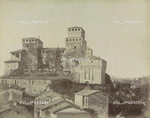 "AVQ-A-003554-0099 - ""Rocche e roccie"" (Rocks and Fortresses): the Castello di Torrechiara, near Langhirano, Province of Parma - Date of photography: 1892-1899 - Fratelli Alinari Museum Collections, Florence"