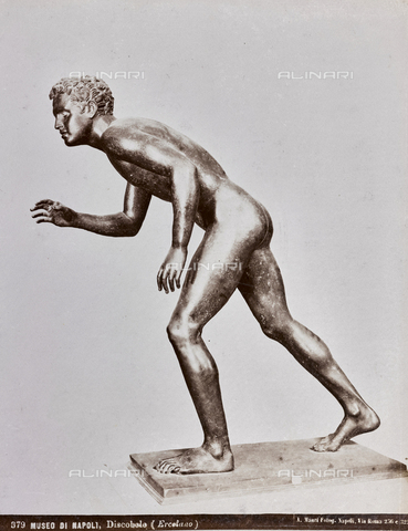AVQ-A-003747-0030 - Discobolo, bronze, Ancient Art, National Archaeological Museum, Naples - Date of photography: 1872-1882 - Fratelli Alinari Museum Collections, Florence