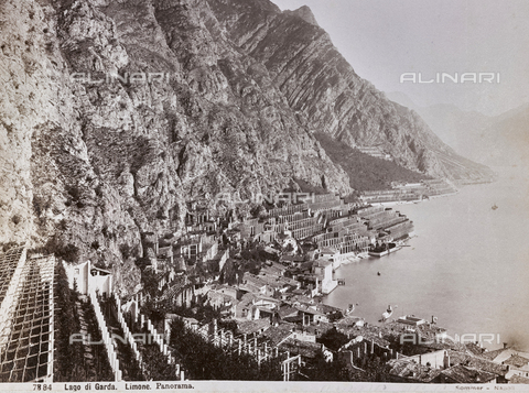 AVQ-A-003747-0057 - View of Limone on Lake Garda - Data dello scatto: 1870-1880 - Archivi Alinari, Firenze