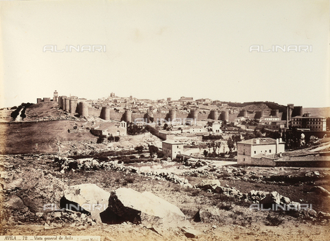 AVQ-A-003815-0028 - Panorama di Avila, città della Spagna - Data dello scatto: 1875 ca. - Raccolte Museali Fratelli Alinari (RMFA), Firenze