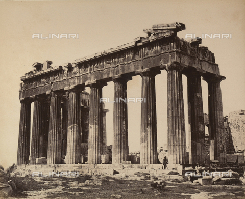 """AVQ-A-003848-0003 - """"Souvenirs d'Orient"""": Parthenon, Acropolis, Athens - Date of photography: 1871 - Fratelli Alinari Museum Collections, Florence"""