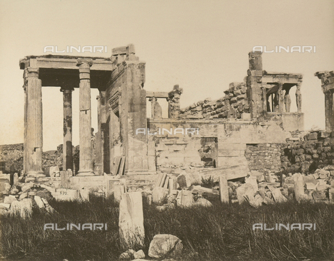 """AVQ-A-003848-0007 - """"Souvenirs d'Orient"""": Erechtheion in the Acropolis of Athens - Date of photography: 1871 - Fratelli Alinari Museum Collections, Florence"""