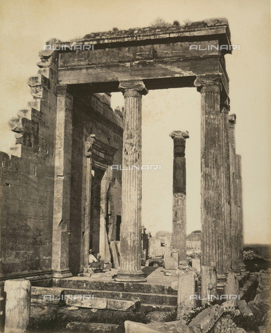 """AVQ-A-003848-0009 - """"Souvenirs d'Orient"""": Erechtheion in the Acropolis of Athens - Date of photography: 1871 - Fratelli Alinari Museum Collections, Florence"""