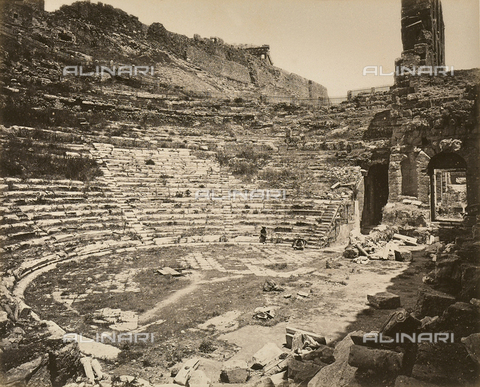 """AVQ-A-003848-0020 - """"Souvenirs d'Orient"""": Odeon of Attic Herod, Athens - Date of photography: 1871 - Fratelli Alinari Museum Collections, Florence"""