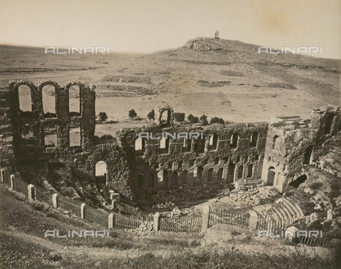 """AVQ-A-003848-0021 - """"Souvenirs d'Orient"""": Odeon of Attic Herod, Athens - Date of photography: 1871 - Fratelli Alinari Museum Collections, Florence"""