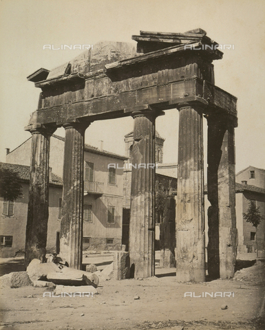 """AVQ-A-003848-0023 - """"Souvenirs d'Orient"""": the Gate of the Agora, called the Great Roman Market in Athens - Date of photography: 1871 - Fratelli Alinari Museum Collections, Florence"""
