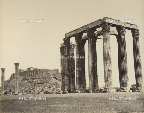"""AVQ-A-003848-0029 - """"Souvenirs d'Orient"""": the Olympieion in Athens - Date of photography: 1871 - Fratelli Alinari Museum Collections, Florence"""
