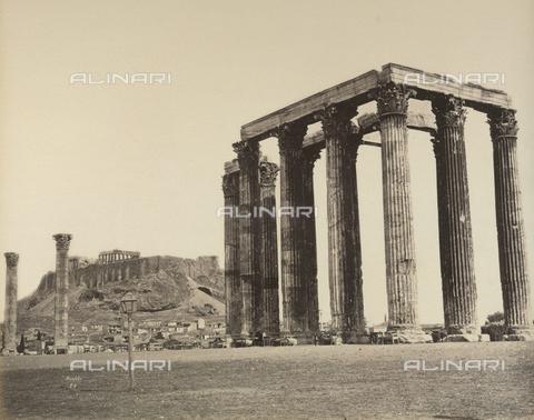 """AVQ-A-003848-0029 - """"Souvenirs d'Orient"""": l'Olimpeion ad Atene - Data dello scatto: 1871 - Raccolte Museali Fratelli Alinari (RMFA), Firenze"""