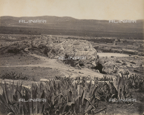"""AVQ-A-003848-0031 - """"Souvenirs d'Orient"""": the Areopagus in Athens - Date of photography: 1871 - Fratelli Alinari Museum Collections, Florence"""