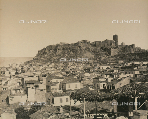 """AVQ-A-003848-0034 - """"Souvenirs d'Orient"""": Acropolis of Athens - Date of photography: 1871 - Fratelli Alinari Museum Collections, Florence"""