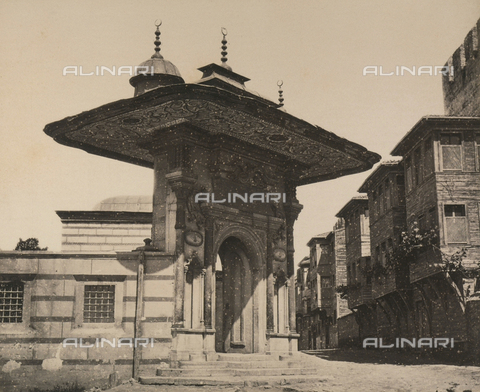 """AVQ-A-003848-0044 - """"Souvenirs d'Orient"""": door of the Basilica of Santa Sofia in Constantinople - Date of photography: 1871 - Fratelli Alinari Museum Collections, Florence"""