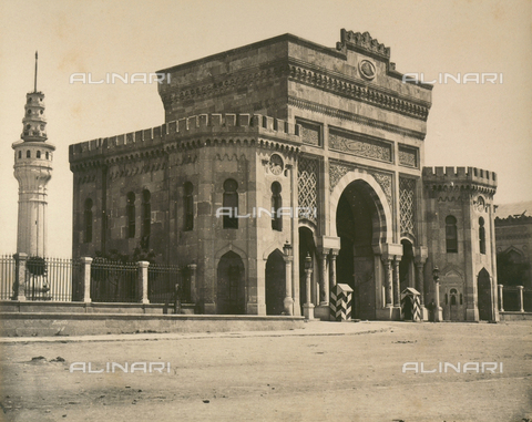 """AVQ-A-003848-0048 - """"Souvenirs d'Orient"""": the Great Gate of Seraskierat in Istanbul - Date of photography: 1871 - Fratelli Alinari Museum Collections, Florence"""