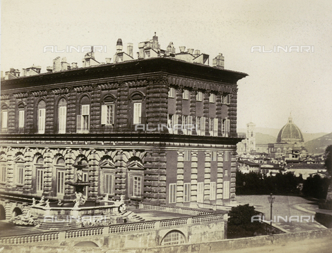 AVQ-A-003862-0019 - Florence, section of Palazzo Pitti - Date of photography: 1860 ca. - Fratelli Alinari Museum Collections, Florence
