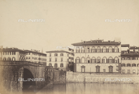 AVQ-A-003862-0021 - Stretch of the Lungarno Corsini, Florence, on the left is the bridge to Carraia - Date of photography: 1865 ca. - Fratelli Alinari Museum Collections, Florence
