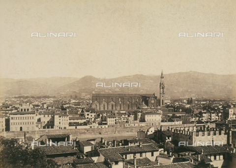 AVQ-A-003862-0028 - Panorama of Florence seen from Fort Belvedere - Data dello scatto: 1865 ca. - Archivi Alinari, Firenze