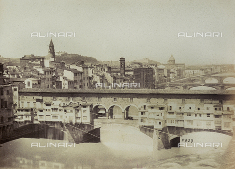 AVQ-A-003862-0037 - Bridges over the Arno river, Florence - Data dello scatto: 1860 ca. - Archivi Alinari, Firenze