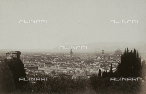 AVQ-A-003862-0043 - Panorama of Florence from San Miniato - Date of photography: 1860 ca. - Fratelli Alinari Museum Collections, Florence
