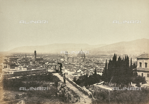 AVQ-A-003862-0044 - Panorama of Florence from the Church of San Miniato al Monte - Data dello scatto: 1860 ca. - Archivi Alinari, Firenze