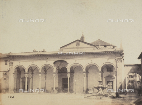 AVQ-A-003862-0058 - Portico of the Basilica of SS. Annunziata, Florence - Date of photography: 1865 ca. - Fratelli Alinari Museum Collections, Florence