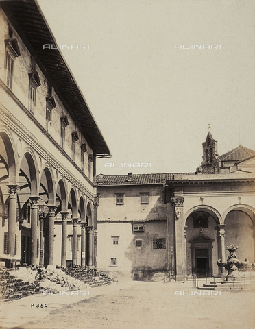 AVQ-A-003862-0059 - View of Piazza SS. Annunziata, Florence - Date of photography: 1865 ca. - Fratelli Alinari Museum Collections, Florence