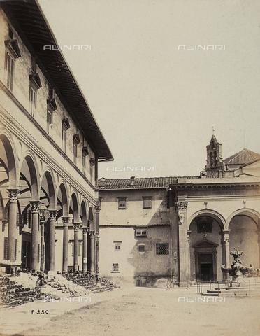 AVQ-A-003862-0059 - Scorcio di piazza SS.Annunziata a Firenze - Data dello scatto: 1865 ca. - Archivi Alinari, Firenze
