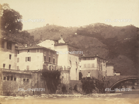 AVQ-A-003862-0084 - View of Ponte a Serraglio and of the Lima stream, near Bagni di Lucca - Data dello scatto: 1865 ca. - Archivi Alinari, Firenze
