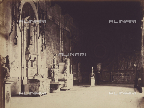 AVQ-A-003862-0101 - Wing of the Pisa Cemetery, adorned with frescoes, statues and sepulchres - Date of photography: 1865 ca. - Fratelli Alinari Museum Collections, Florence