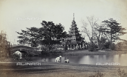 AVQ-A-003894-0004 - La Burmese Pagoda nei Giardini dell'Eden a Calcutta - Data dello scatto: 1870-1880 - Archivi Alinari, Firenze