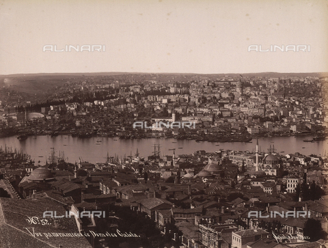 AVQ-A-003909-0002 - Veduta panoramica di Pera e di Galata in Turchia - Data dello scatto: 1885 - 1890 ca. - Archivi Alinari, Firenze