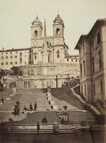 AVQ-A-003974-0005 - Trinità dei Monti a Roma - Data dello scatto: 1860-1865 - Archivi Alinari, Firenze