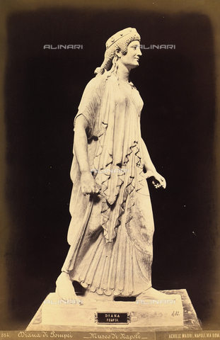 AVQ-A-004092-0023 - Diana, marble, National Archaeological Museum of Naples - Date of photography: 1885 ca. - Fratelli Alinari Museum Collections, Florence