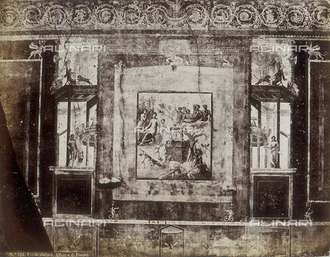 AVQ-A-004092-0059 - Drunken Hercules, fresco, House of Sirico, Pompei - Data dello scatto: 1880 ca. - Archivi Alinari, Firenze