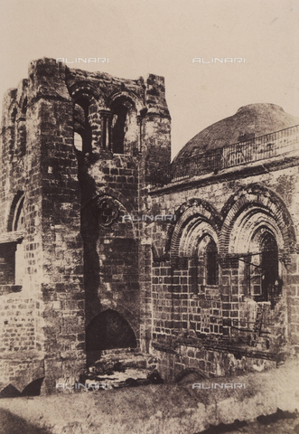 AVQ-A-004115-0005 - The bell tower of the Basilica of the Holy Sepulchre, in Jerusalem - Data dello scatto: 1856 - Archivi Alinari, Firenze